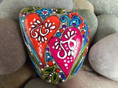 Painted rocks / We have a beautiful love  / I love you / valentines day / Sandi Pike Foundas / sea stones / Cape Cod