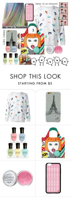 """""""Stay Young Forever"""" by viriditygirls ❤ liked on Polyvore featuring Maison Kitsuné, Deborah Lippmann, LOQI, Moyana Corigan and Dirty Pretty Things"""