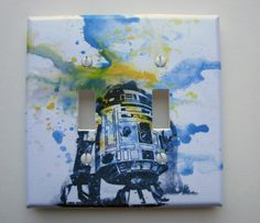 R2D2 Star Wars Decorative Double Light Switch Plate Cover