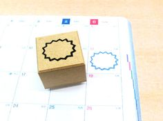 ★ COOL JAPAN STAMP no,28 ★  This rubber stamp is Japanese traditional pattern !! Made in Japan.  Detail is clear and easy to use.  This is perfect