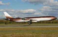 Airbus A340-300 Private Jet: $450-plus million:    The world's most pricey private jet belongs to Alisher Usmanov, Russia's richest man. He paid $238 million for the plane and spent a fortune decking it out. The Airbus can carry hundreds of passengers and flies a lengthy 9,000 miles before it needs to refuel.  -      Inside the world's most expensive private jets