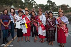 Numerous municipal queens from the Department of Huehuetenango arrive to the ancient Mayan site of Zaculeu on the eve before the end of the Mayan era known as 13 Baktun. Queens, December, Action, Image, Beautiful, Huehuetenango, Group Action, Thea Queen, Queen Bees