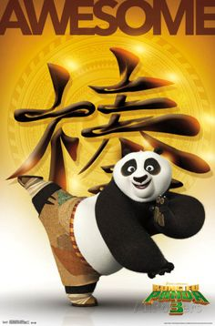 Trends International Kung Fu Panda 3 Awesome Wall Poster inch x 34 inch, Multicolor Movie Poster Art, Poster Wall, Poster Prints, Panda Movies, Master Shifu, Dreamworks Movies, Dreamworks Animation, Kung Fu Panda 3, Cool Posters