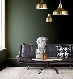 Trendene som vil bli store i 2016 - Interior Design Living Room, Living Room Decor, Living Spaces, Bedroom Decor, Green Home Decor, Beautiful Bedrooms, New Room, House Colors, Decoration