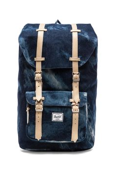 Herschel Supply Co. Select Collection Little America in Acid Washed Denim