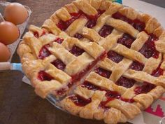 """Cherry Pie with Ice Cream Sprinkle Balls (Bunkin' with GiGi) - Nancy Fuller, """"Farmhouse Rules"""" on the Food Network."""