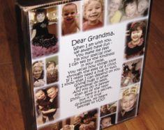 Items similar to Personalized Photo COLLAGE Blocks- Custom made to order with LOTS of pictures and a poem on Etsy Xmas Gifts, Craft Gifts, Cute Gifts, Diy Gifts, Baby Crafts, Crafts For Kids, Memory Crafts, Cadeau Grand Parents, Photo Collage Gift