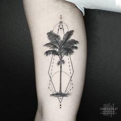 #tattoo #minimal #geometric #line #work #black #abstract #okan #uckun #istanbul #turkey #im #not #minimal #dot #design #fashion #diy #landspace #photography #tree #palms #palm #palmtree