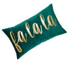 CANVAS FaLaLa Embroidered Sequin Cushion is a Christmas inspired decorative cushion | Canadian Tire