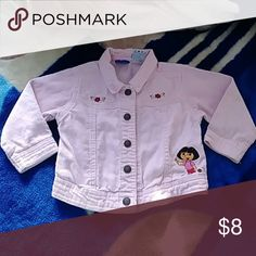 Baby girl 2T Jacket Great condition Dora corduroy material button up jacket Nick Jr. Jackets & Coats