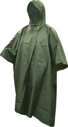 These 5ive Star Gear GI Spec Military Rip-Stop Ponchos are made of a heavyweight, durable waterproof rip-stop material. Featuring built-in snaps on each side for increased protection from the elements along with grommets in each corner that allows for use as an emergency shelter. Can also be used as a ground cover and comes with a stuff sack for storage. Features: Waterproof heavyweight rip-stop material with taped seams Two snaps on each side for increased protection from the elements Built-in Tactical Clothing, Shelter, Corner, Military, Stars, Storage, Products, Ponchos, Purse Storage