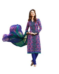 To Buy Pink Printed Salwar Suit please click Below:- http://www.ethnicstation.com/pink-printed-salwar-suit-my1002  #PrintedSalwarSuit #DiscountSale