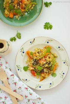Salada de quinoa com shiitake • Quinoa and shiitake salad