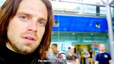 Seb Look at his beautiful goddamn face! Sebastian Stan, Marvel Memes, Marvel Dc, Bucky Barnes, Ben Barnes, Winter Soldier Bucky, James Buchanan, Captain America Civil War, Bae