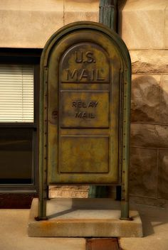 A RELAY MAILBOX. MAIL WOULD BE PUT IN HERE FOR MAILMAN TO PICKUP AND DELIVER.
