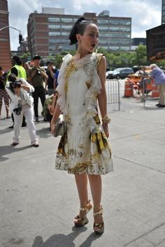 Michelle Harper at New York Fashion Week