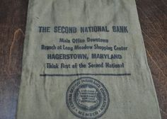 Vintage Canvas Coin Bag Feed Sack and Jewelers Bag