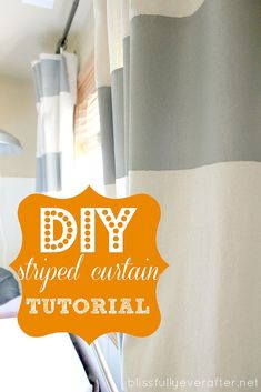 DIY Painted Drop Cloth Curtains...shhhh no one will ever know