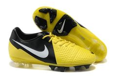 b7412380c7849 Nike CTR360 Maestri III FG Cheap Soccer Cleats Yellow Black White Soccer  Boots