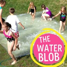 DIY Water Blob (tips and tricks) - keep the kids entertained for hours using duct tape and plastic sheeting! This looks like fun. a huge waste of water since it all dumps on the ground, but fun. Summer Activities For Kids, Summer Kids, Outdoor Activities, Fun Activities, Educational Activities, Water Blob, Boredom Busters, Summer Bucket, Outdoor Fun