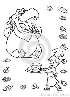 Hippo coloring page  Animal Coloring Pages  Pinterest  Coloring