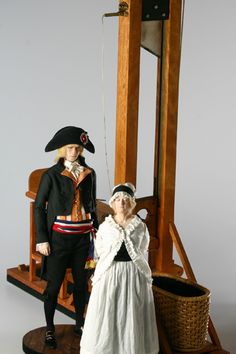 Guillotine (fixture)  Best View  his head!         The Guillotine, a quick and humane form of execution, was favored by the revolutionaries. The executions of the French nobility were done publicly, often to the cheers of the mobs. During the Reign of Terror, more than 30,000 French citizens were guillotined or died in prison.