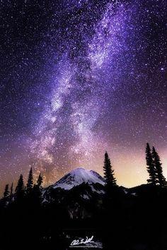 Zen, winter Milky Way rose over Mt. Rainier  Chris Williams Exploration Photography