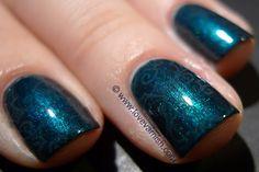 Envy Me, Frank (franken) stamped with China Glaze Exotic Encounters. #Nailart #Nailpolish #Polish #Swatches #Glitter
