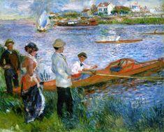 Remeros en Chatou - por Pierre-Auguste Renoir
