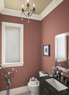 Half bathroom - love the paint color