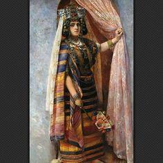 نايلية على عتبة الباب 1880 Une Ouled Naïl sur le pas de la porte 1880 Adèle Compin de Lurieux ,Peintre Française . #algerie #algeria #oulednail #paint #painting #oilpainting #art #art #artwork #artofinstagram #الجزائر #الجزائر_المحمية_بالله #لوحات_فنية #لوحات_فنية_جزائرية