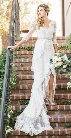Elegant wedding dress idea via Brian LaBrada Photography
