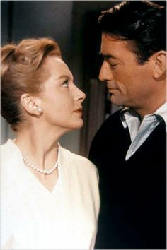 Deborah Kerr and Gregory Peck in Beloved Infidel (1959) - it was a Fox movie made about the torrid love affair between gossip columnist Sheilah Graham and F. Scott Fitzgerald when he was in Hollywood writing screenplays.
