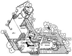 1000 images about flw hanna honeycomb house on for Honeycomb house floor plan
