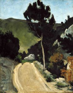 'The winding road in Provence', c. 1866 - Paul Cézanne