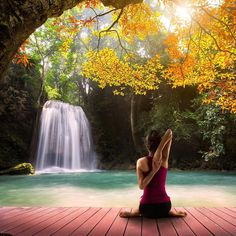 Waterfalls and Yoga. Who would you take here?  PC: Patrick at 500px  Contest…