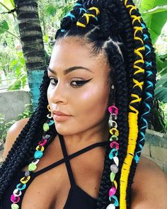 24 Inches length Jumbo Box Braids Kanekalon single color Braiding Xpression Hair, single color, 32 colors optional, As shown in the picture. Fake Hair Braids, Faux Braids, Big Box Braids, African Braids Hairstyles, Protective Hairstyles, Ponytail Hairstyles, Girl Hairstyles, Black Girl Braids, Braids For Black Hair