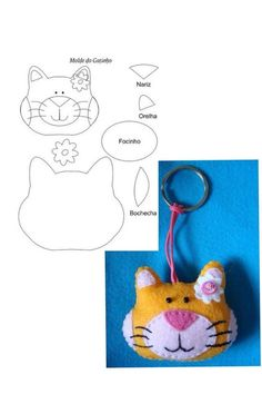 key holder cat pattern found on creativemamy page on facebook
