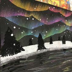 Northern lights art. [winter]
