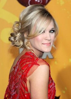 sleek side. un | Carrie Underwood Long Sleek Hairstyles with Side Bangs | Hairstyles ...