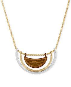 Lucky Brand Tri-Tone Pendant Necklace