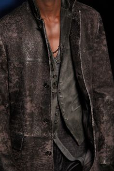 John Varvatos WOW I LIKE WORN LEATHER & ALSO SUEDE