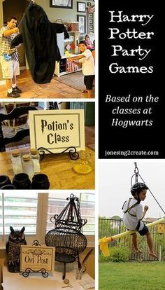 31 Ways To Throw The Ultimate Harry Potter Birthday Party Now that you have heard all about the food and invites, it is time to cover my favorite part of any party — the games! If you are looking for some Harry Potter party game ideas, I loved. Harry Potter Motto Party, Harry Potter Fiesta, Harry Potter Party Games, Harry Potter Thema, Cumpleaños Harry Potter, Harry Potter Halloween Party, Harry Potter Classroom, Harry Potter Christmas, Harry Potter Classes
