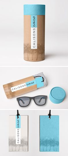 One of three concept designs for CaliSons Sunglasses packaging. Find out more on our blog.