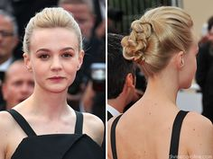Carey Mulligan's adorable updo is a lot easier than it looks. We tell you how to pull this style off at home. #hairhelp #celebrity