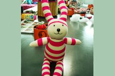 Sock bunny is very cute. This craft idea has been around for many years, and these sock bunny were originally created with wo