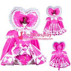 Sissy maid pvc dress lockable Uniform cosplay costume Tailor-made[G3728]