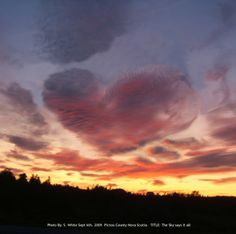 Message Of Love From Above. #Clouds #Heart.