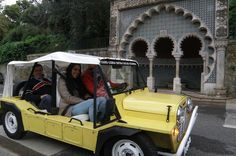 Private Tour: Palaces in Sintra Enjoy a unique option to see Sintra in a open and vintage car like Mini Moke. In a 90 minutes ride you will see and appreciate the Historic Center, National Palace, Quinta da Regaleira, Monserrate Palace, Seteais Palace, Morrish Castle and the world famous Pena Palace. We will take you to the best spots and will give you a total view of this Unesco World Heritage Cultural Landscape.Start your tour from Sintra's railway station or your centrally ...