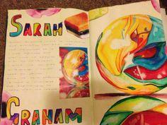 Sarah Graham GCSE big piece inspiration everyday objects research homework